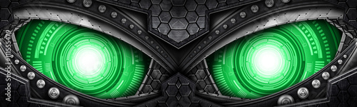 Fototapeta abstract robot eye background