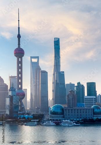 Plakát, Obraz shanghai cityscape
