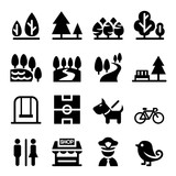 Fototapety Park, public park, national park, garden icon set