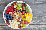 ingredients for a healthy breakfast in one dish