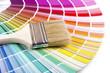Quadro paintbrush on a palette color guide