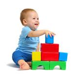 Fototapety Little boy playing toy