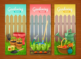 Colorful Collection Of Gardening Vertical Banners
