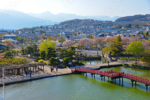 Foto op Plexiglas Japan Matsumoto city view from Matsumoto Castle