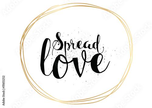 Póster Difunde la inscripción de amor