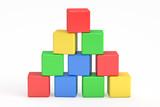 blocks building, cubes. 3D rendering - 111626676
