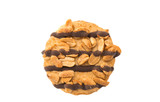 cookies with chocolate and nuts isolated