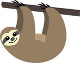 vector funny sloth