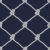 Seamless nautical rope knot pattern
