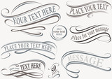 Calligraphic Design Elements - Typographic Illustrations, Vector - 111657857