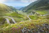 Iconic Transfagarasan highway at idyllic sunny day