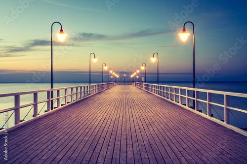 Fototapety, obrazy : Piękny kolorowy wschód słońca nad Bałtykiem