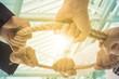 .Teamwork businessman team ,team people hold rope circle concept