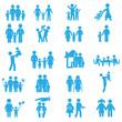 Набор семейных иконок. Фигурки людей. - 111692665