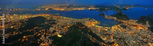 In de dag Rio de Janeiro Rio de Janeiro / Zuckerhut, Guanabara Bucht und Stadtzentrum
