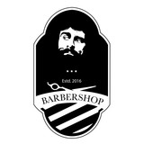 Logo for barbershop, hair salon. Black and white barbershop logotype. Barbershop sign. Vector Illustration