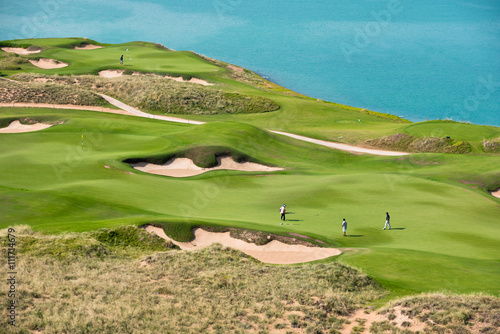 golf resort with the scenery of the sea - 111714679