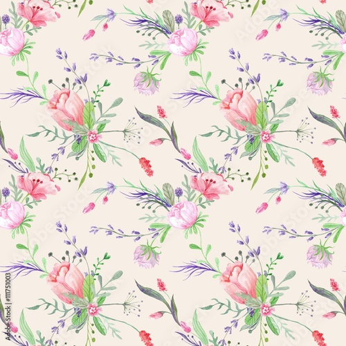 Fototapeta Vintage Provence Watercolor Texture