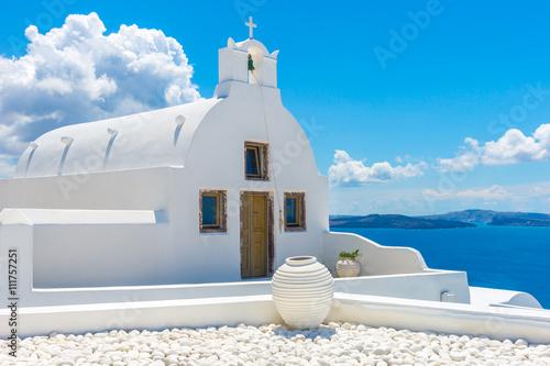 Zdjęcia na płótnie, fototapety na wymiar, obrazy na ścianę : Landscape Santorini Island, Oia, Cyclades, Greece