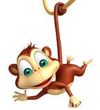 funny  Monkey cartoon character - 111759230