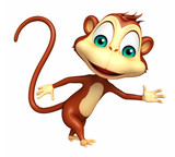 walking  Monkey cartoon character - 111759437