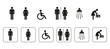 WC Symbole, signs, icons, sanitär, piktogramm