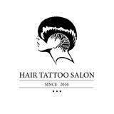 Logo for hair tattoo salon Vector Illustration