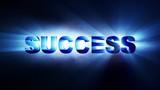 SUCCESS Text Animation Lights Rays, Loop, 4k