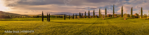 Panel Szklany Panorama of Tuscan landscape
