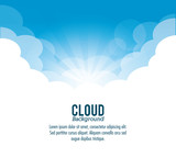 Cloud design. Wheater icon. Colorful illustration - 111820283