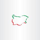 bulgaria map vector icon symbol