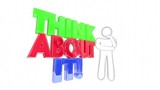Think About It Person Problem Solving Words 3d Animation