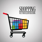 Shopping design. commerce icon. Colorful design
