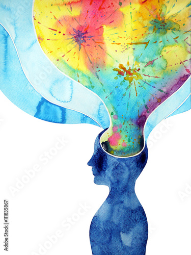 human head, chakra power, inspiration abstract thinking thought © benjavisa