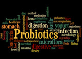 Probiotics, word cloud concept 7