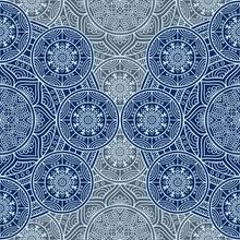 Etnische bloemen naadloos patroon