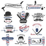 Fototapety Barbershop tool collection