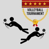 Volleyball design. Sport icon. Isolated illustration , editanle vector