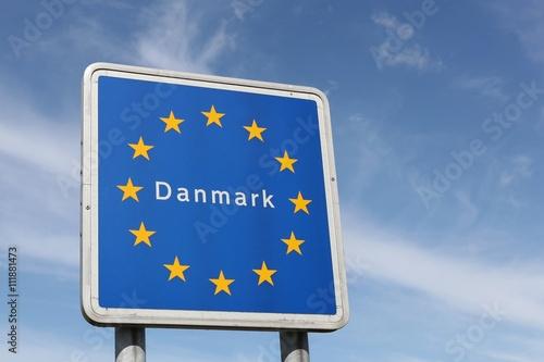 Poster Border sign of Denmark