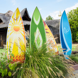 Fototapety Colorful surfboards.