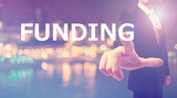 Funding concept with businessman
