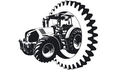 Traktor Lohnunternehmen Zahnrad