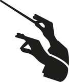 Fototapety Conductor hands with baton