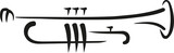 Trumpet caligraphy style - 111898688