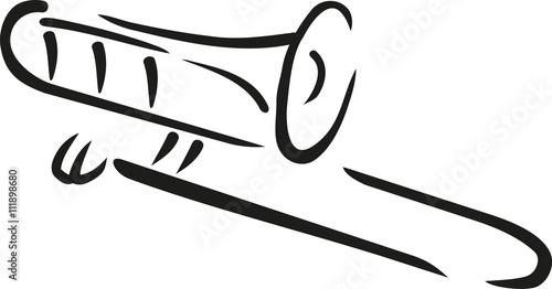 Trombone caligraphy style