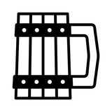 Dwarven tankard / mug flat icon for games and websites