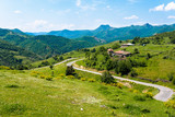 Small settlement in green hill region of Rhodope mountains, Bulg