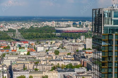 Panel Szklany Panorama Warszawy