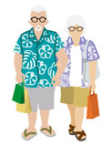Shopping Senior Couple - Summer fashion