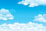 Sky with clouds  on a sunny day. Vector illustration - 111938461